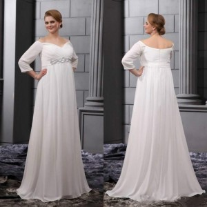 4-long-sleeves-empire-waist-a-line-white-chiffon-bridal-ball-gowns